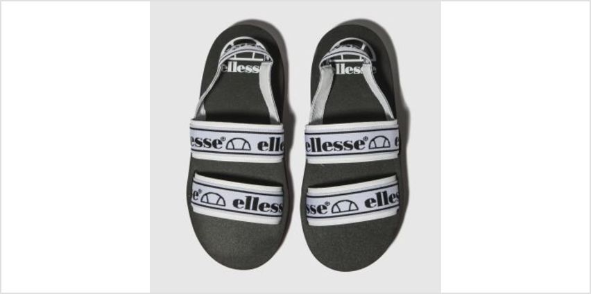 Ellesse Black & White Giglio Womens Sandals from Schuh