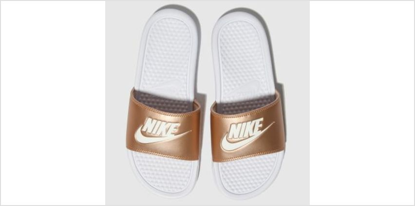 Nike Bronze Benassi Slider Womens Sandals from Schuh