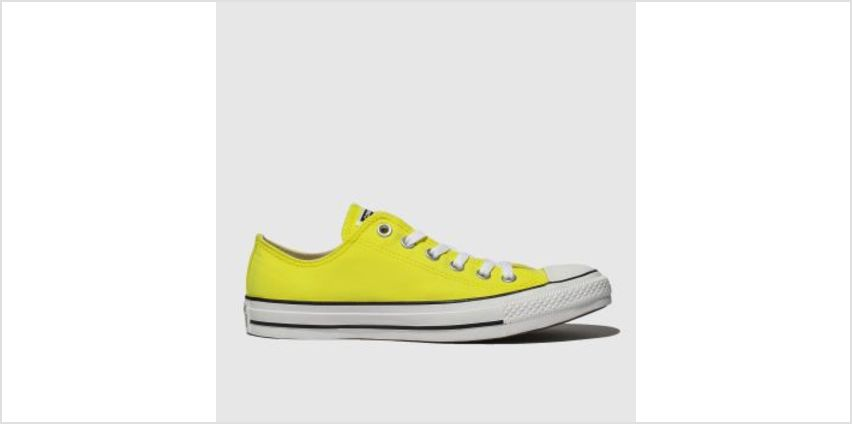 Converse Yellow All Star Peached Canvas Ox Womens Trainers from Schuh