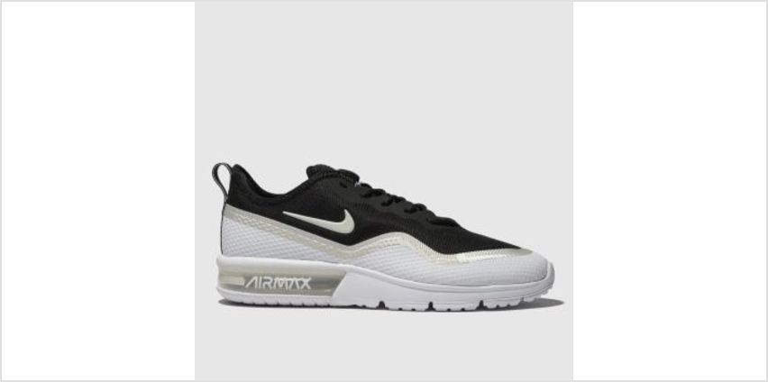 Nike Black & Silver Air Max Sequent 4.5 Womens Trainers from Schuh