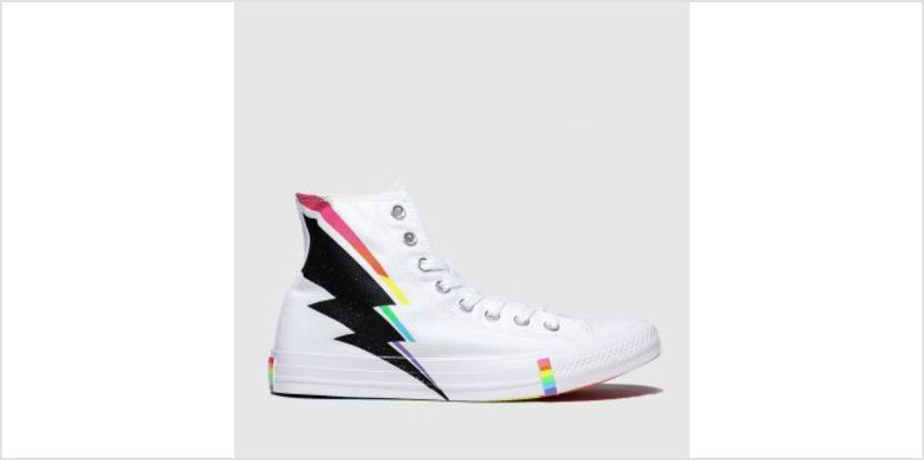 Converse White & Black All Star Pride Hi Womens Trainers from Schuh