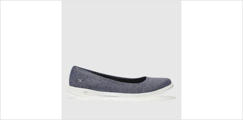 Skechers Navy & White Go Walk Lite Enamored Womens Trainers from Schuh