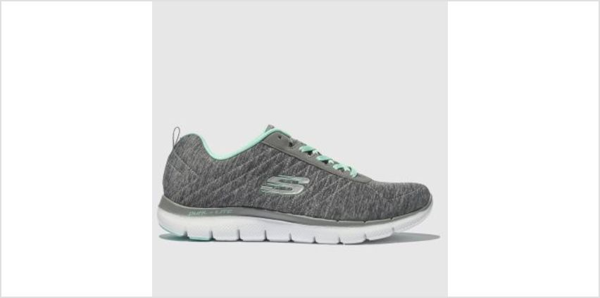 Skechers Grey Flex Appeal 2.0 Womens Trainers from Schuh