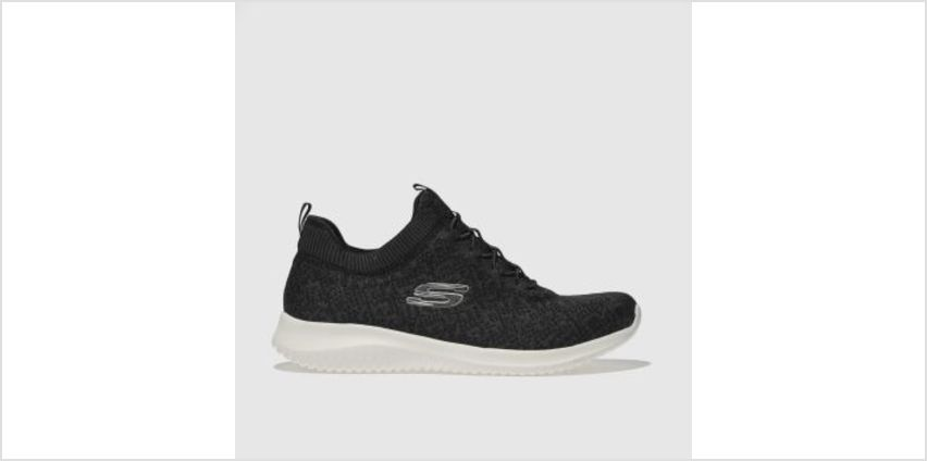Skechers Black & White Ultra Flex Womens Trainers from Schuh