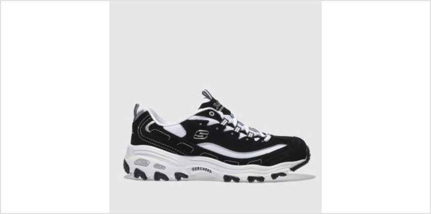 Skechers Black & White Dlites Womens Trainers from Schuh