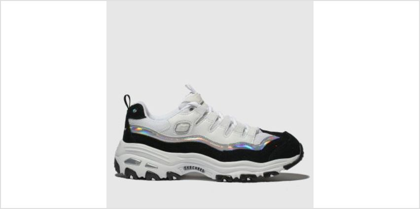 Skechers White & Black Dlites Womens Trainers from Schuh