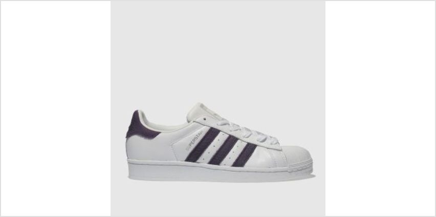 Adidas White & Purple Superstar Womens Trainers from Schuh