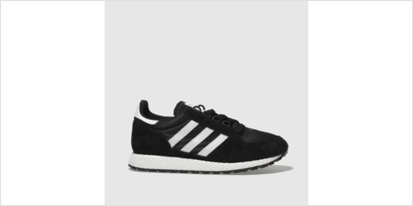 Adidas Black & White Forest Grove Womens Trainers from Schuh