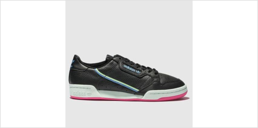 Adidas Black & Green Continental 80 Womens Trainers from Schuh