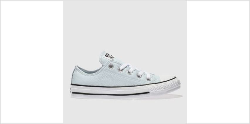 Converse Pale Blue All Star Leather Ox Womens Trainers from Schuh