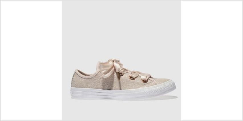 Converse Pale Pink Big Eyelets Glitter Ox Womens Trainers from Schuh