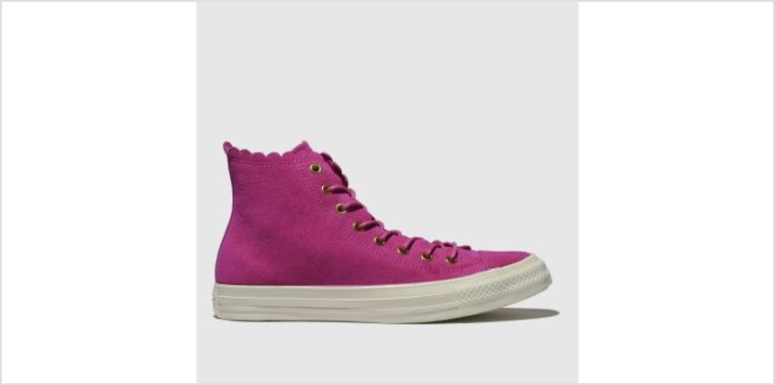 Converse Pink All Star Hi Frilly Thrills Womens Trainers from Schuh