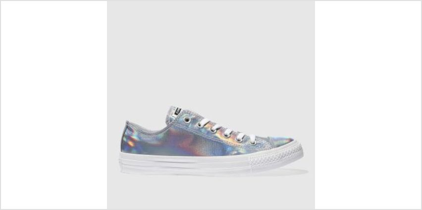 Converse Silver All Star Iridescent Ox Womens Trainers from Schuh