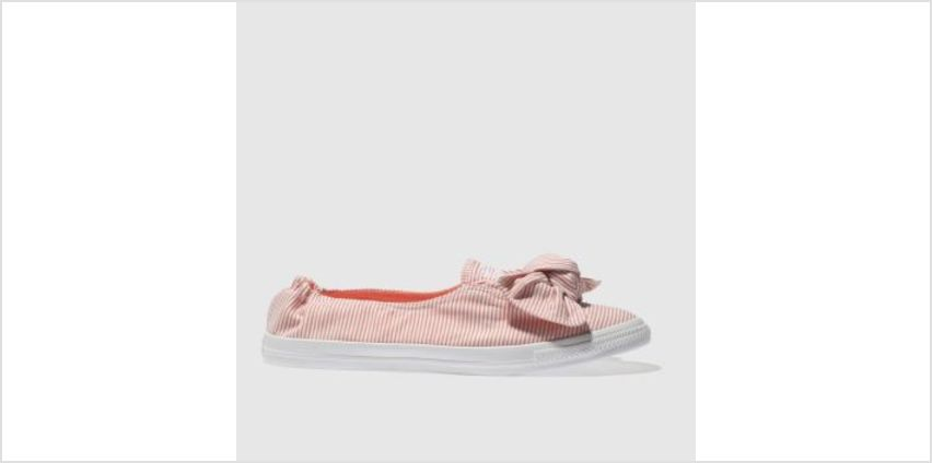 Converse White & Orange All Star Stripe Knot Slip Womens Trainers from Schuh