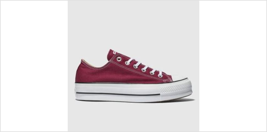 Converse Burgundy Chuck Taylor All Star Lift Ox Womens Trainers from Schuh