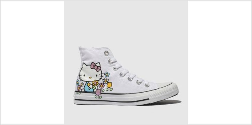 Converse White All Star Hello Kitty Hi Womens Trainers from Schuh