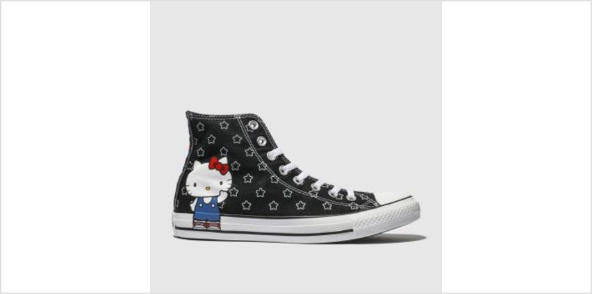 Converse Black & White All Star Hello Kitty Hi Womens Trainers from Schuh