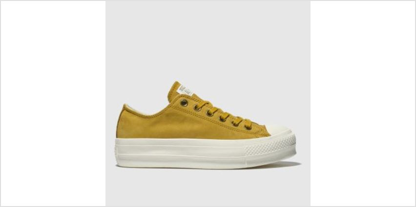 Converse Yellow All Star Clean Lift Platform Womens Trainers from Schuh