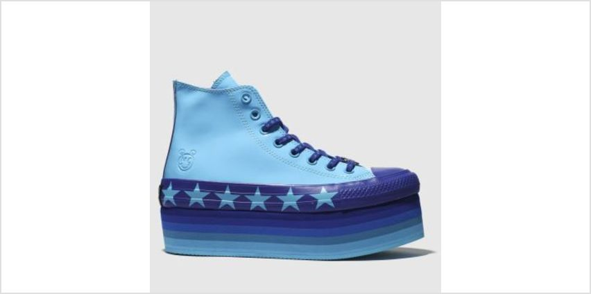 Converse Blue Platform Hi X Miley Cyrus Womens Trainers from Schuh