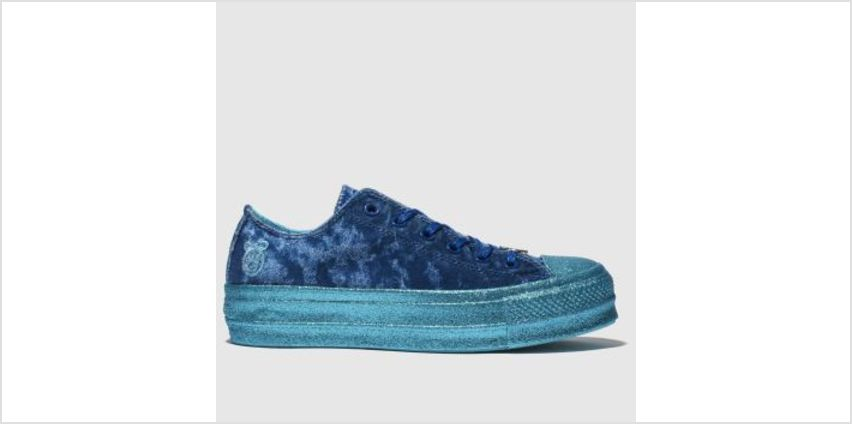 Converse Navy All Star Lift Ox X Miley Cyrus Womens Trainers from Schuh