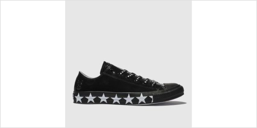 Converse Black & White All Star Ox X Miley Cyrus Womens Trainers from Schuh