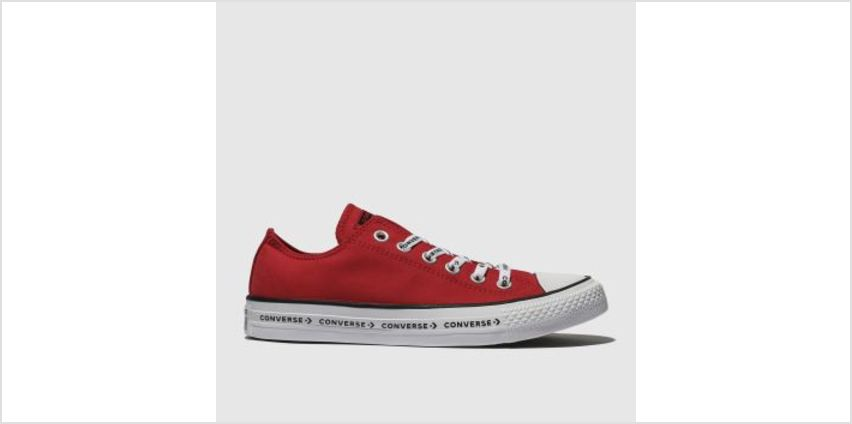 Converse Red All Star Ox Logo Laces Canvas Womens Trainers from Schuh