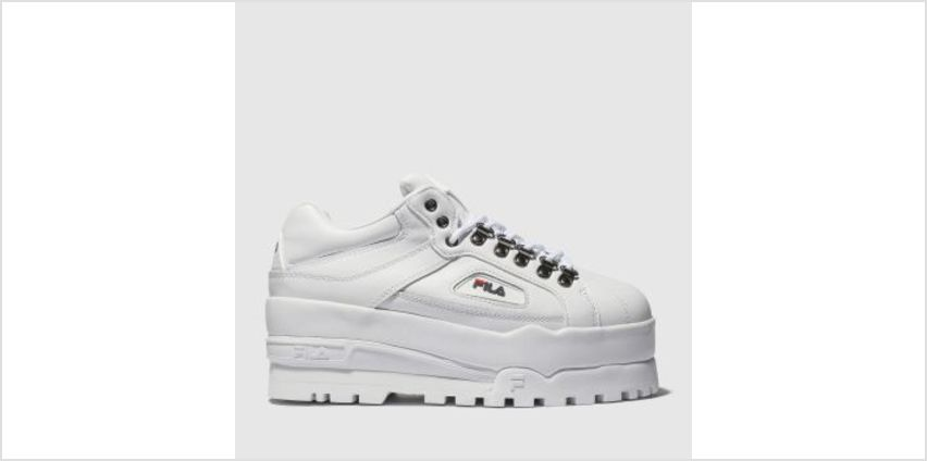 Fila White Trailblazer Wedge Womens Trainers from Schuh