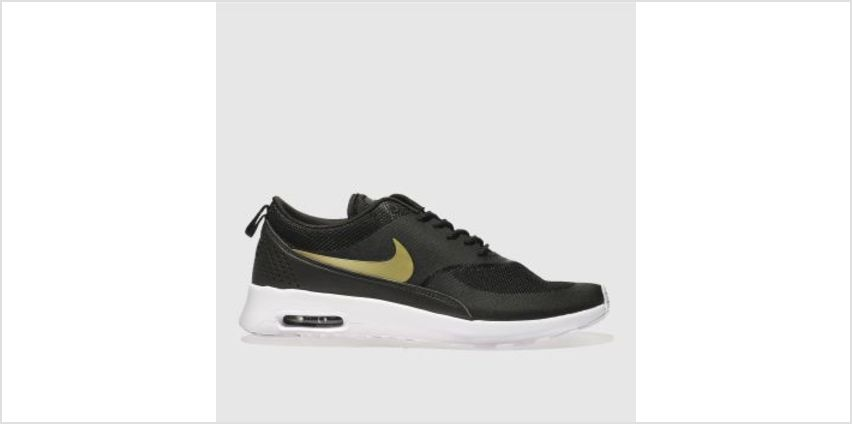 Nike Black & Gold Air Max Thea Womens Trainers from Schuh