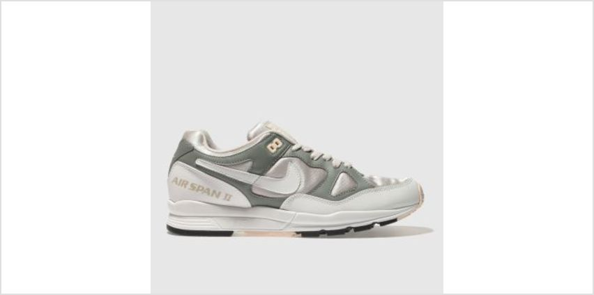 Nike White & Green Air Span Ii Womens Trainers from Schuh