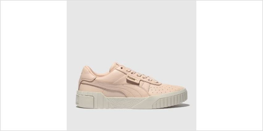 Puma Pale Pink Cali Leather Womens Trainers from Schuh