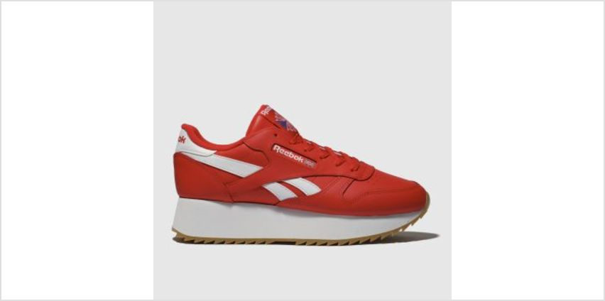 Reebok Red Classic Leather Double Womens Trainers from Schuh
