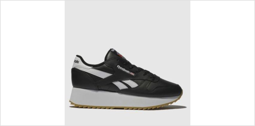 Reebok Black & White Classic Leather Double Womens Trainers from Schuh