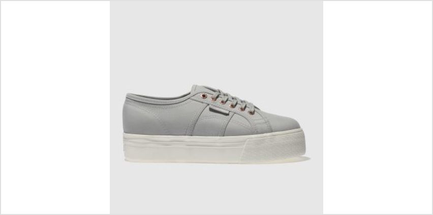 Superga Light Grey 2790 Flatform Womens Trainers from Schuh