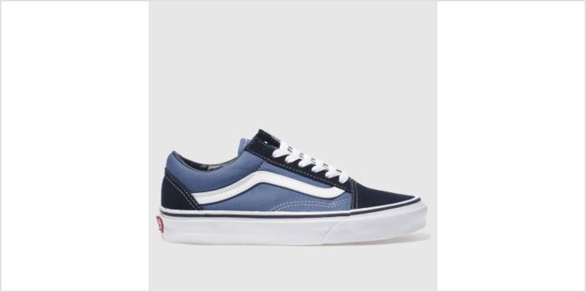 Vans Navy & White Old Skool Womens Trainers from Schuh