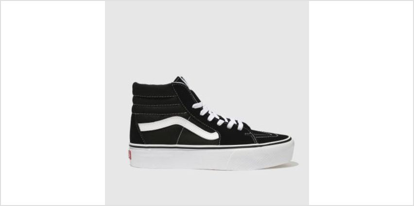 Vans Black & White Sk8-Hi Platform 2.0 Womens Trainers from Schuh