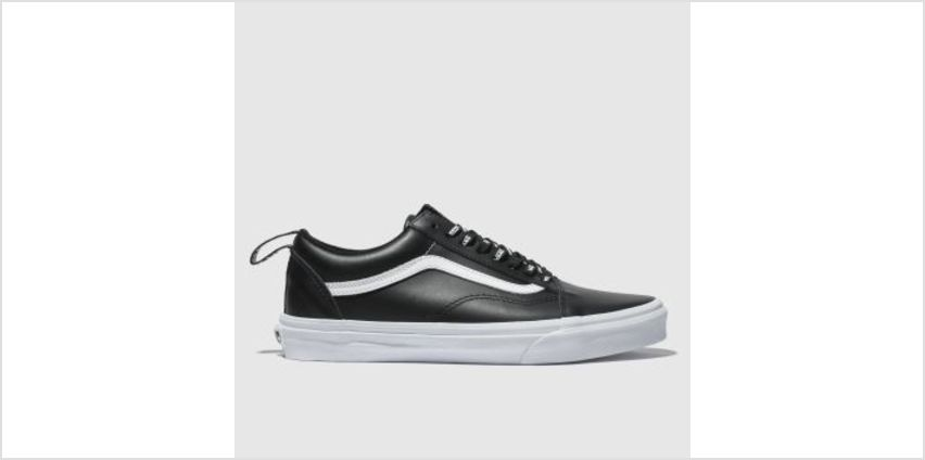 Vans Black & White Old Skool Webbing Womens Trainers from Schuh