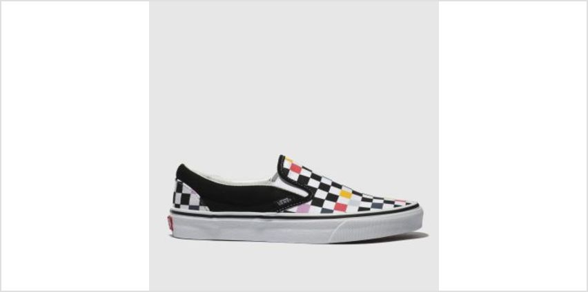 Vans Black & Multi-Coloured Classic Slip-On Womens Trainers from Schuh