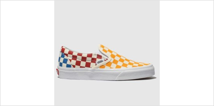 Vans Multi Classic Slip Checkerboard Womens Trainers from Schuh