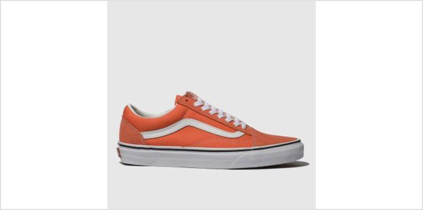 Vans Orange Old Skool Suede Womens Trainers from Schuh