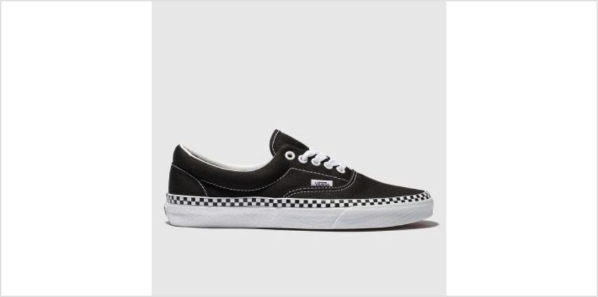 Vans Black & White Era Check Foxing Womens Trainers from Schuh