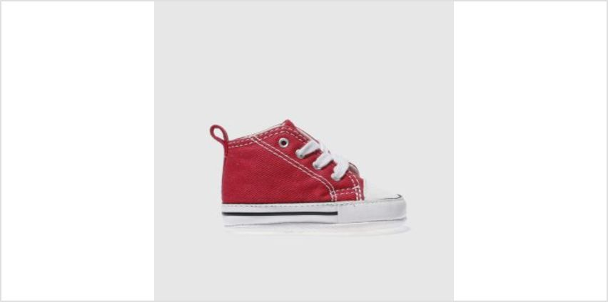 Converse Red 1St Star Crib Unisex Crib from Schuh