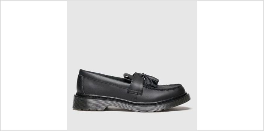 Dr Martens Black Adrian Unisex Youth from Schuh