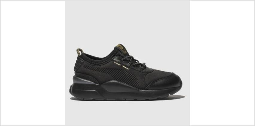 Puma Black & Gold Rs-0 Trophy Unisex Toddler from Schuh