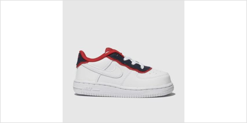 Nike White & Navy Air Force 1 Lv8 1 Dbl Unisex Toddler from Schuh