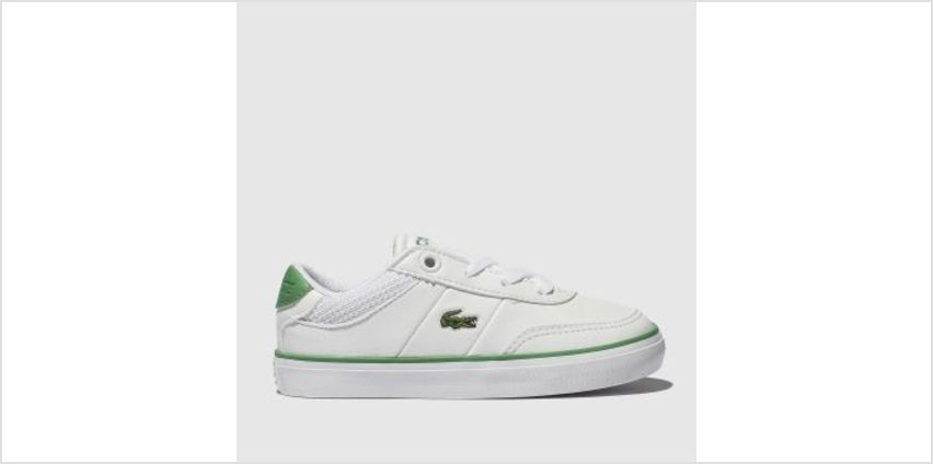 Lacoste White & Green Court-Master Unisex Toddler from Schuh