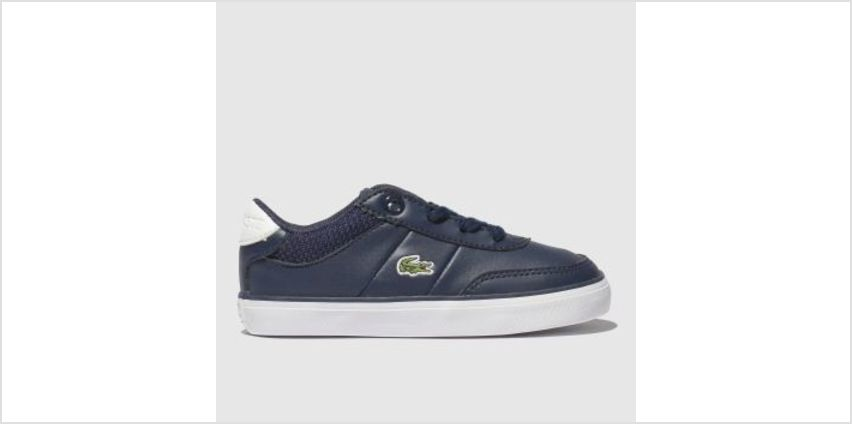 Lacoste Navy & White Court-Master Unisex Toddler from Schuh