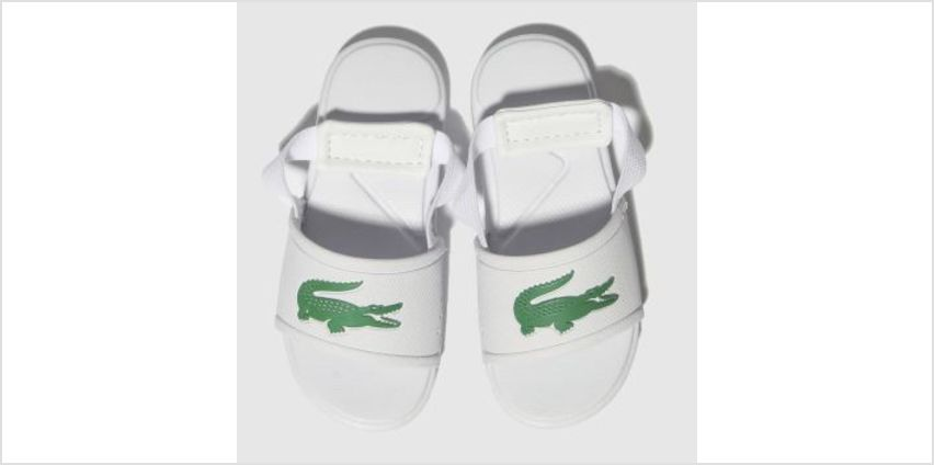 Lacoste White & Green L.30 Slide Unisex Toddler from Schuh