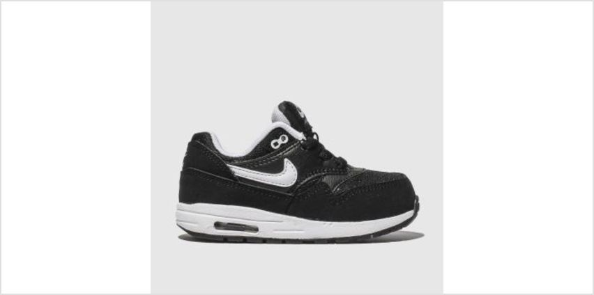 Nike Black & White Air Max 1 Unisex Toddler from Schuh