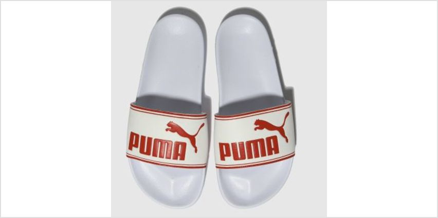 Puma White & Red Leadcat Unisex Junior from Schuh
