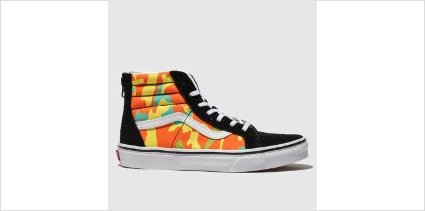 Vans Black & Orange Sk8-Hi Zip Pop Camo Unisex Junior from Schuh
